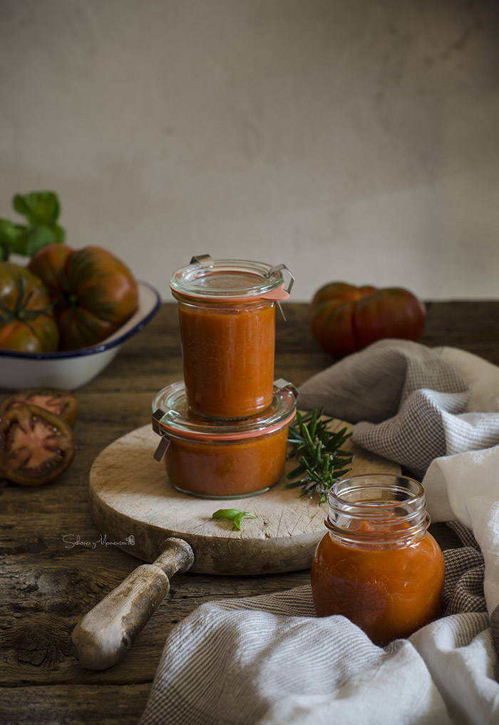 Salsa de tomate frito casero receta fácil