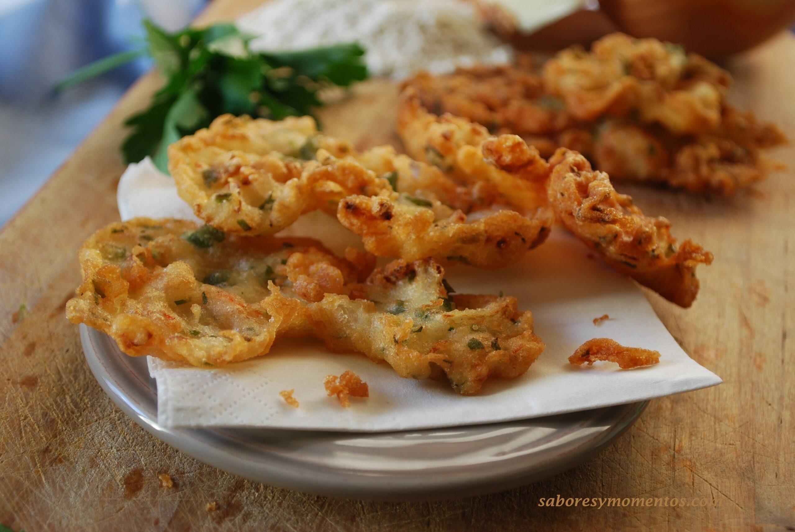 receta original de las tortillitas de camarones