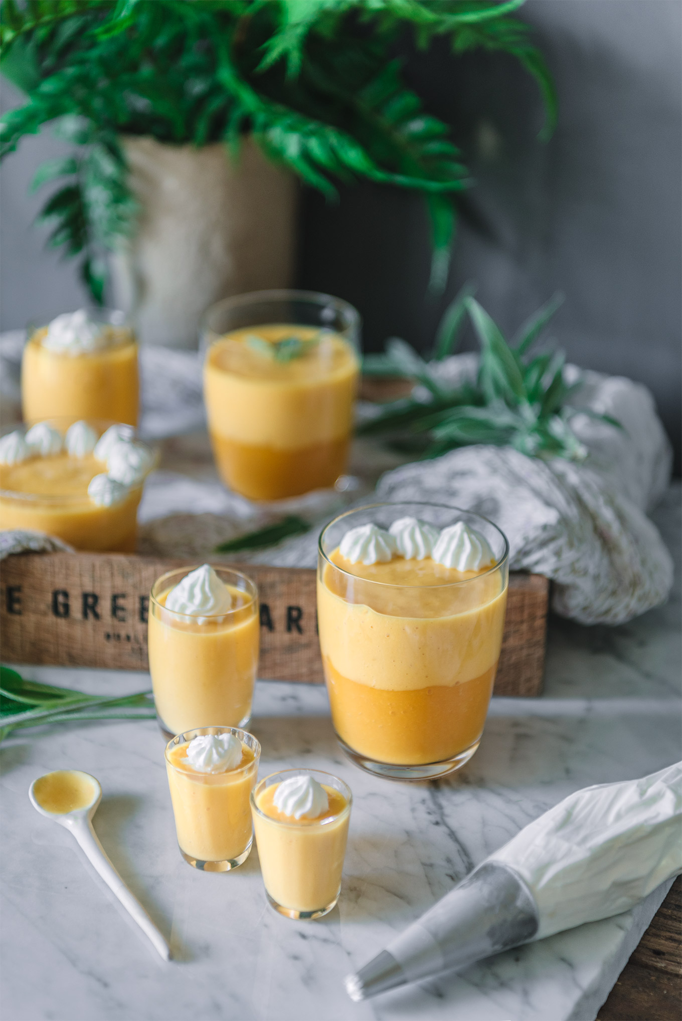 crema fría de mango receta fácil
