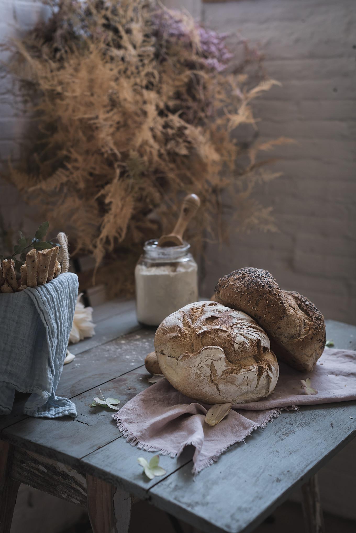Pan de campo para mojar en salsa