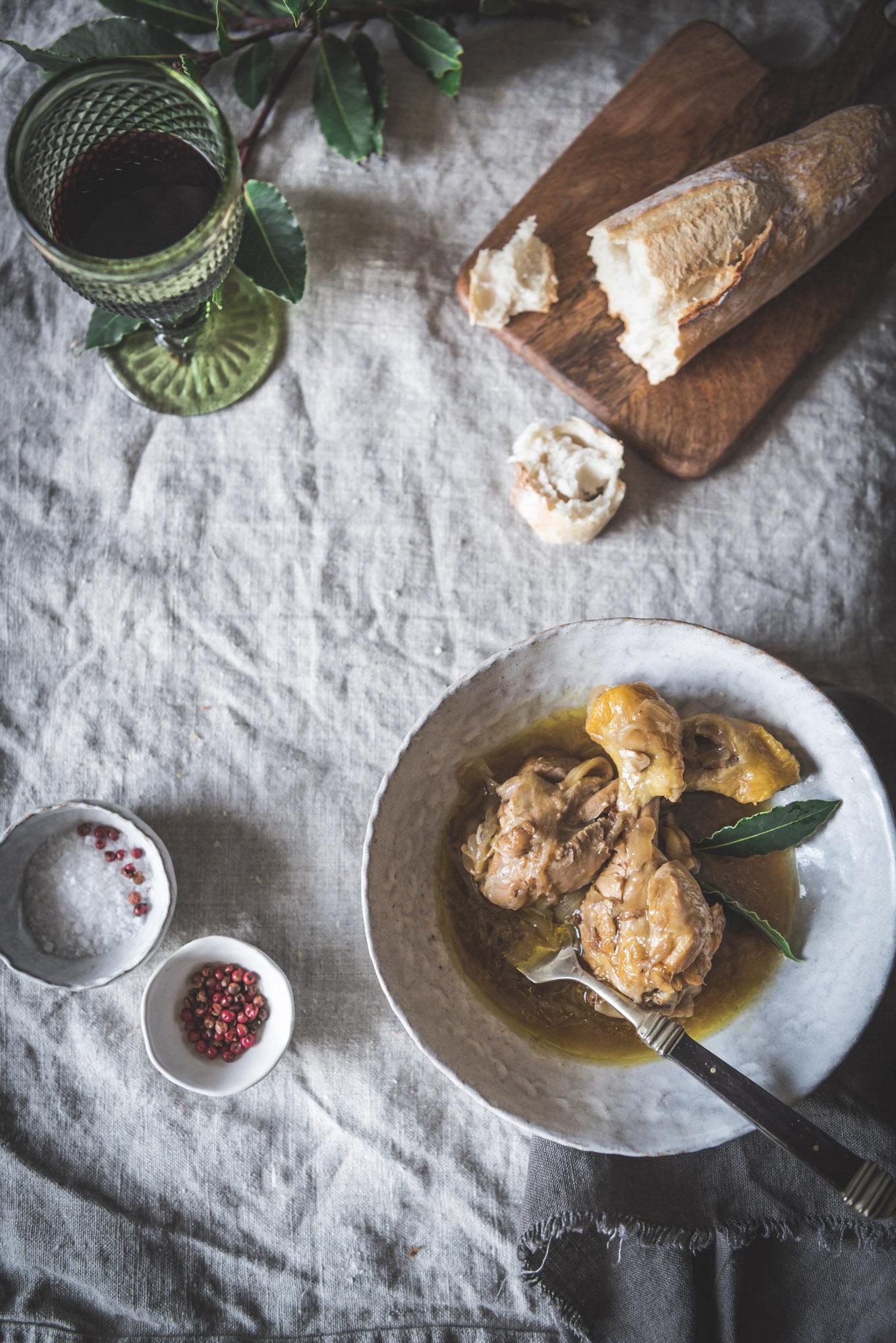 Pollo guisado receta fácil