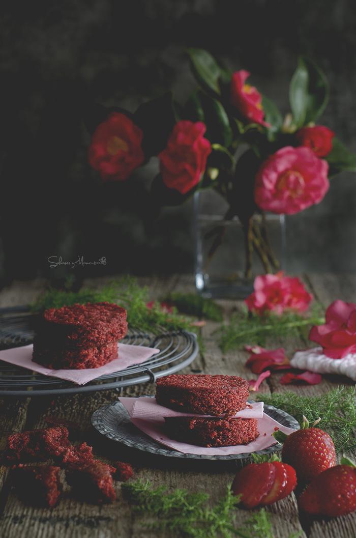 Red velvet triffle con crema de ricotta