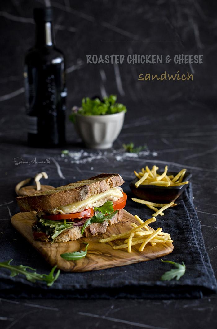 Sandwich de Pollo y queso Gruyere
