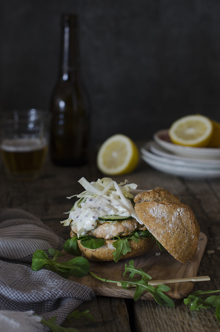 Hamburguesa de Salmon- receta fácil