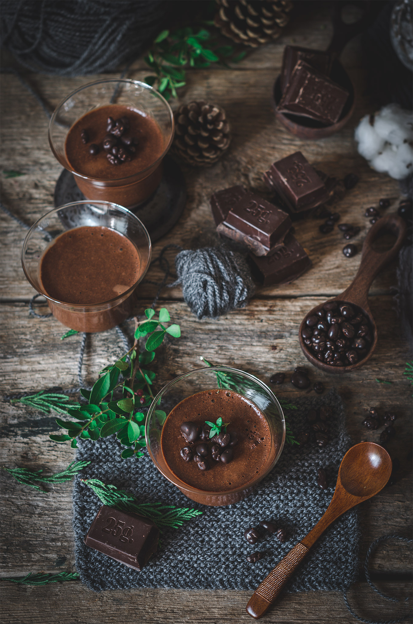 Mousse de chocolate y Caramelo salado