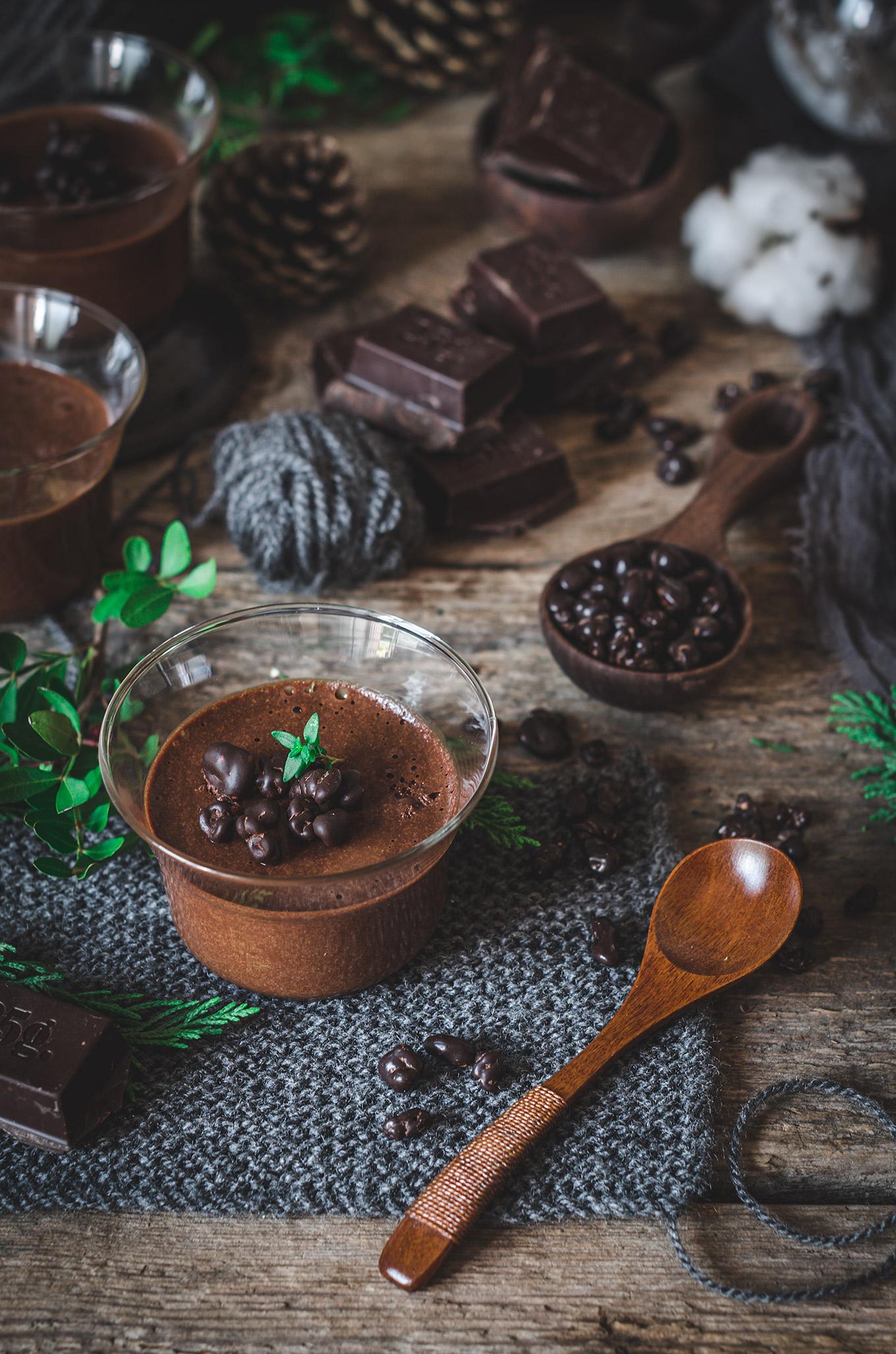 Receta de la Mousse de Chocolate con caramelo salado