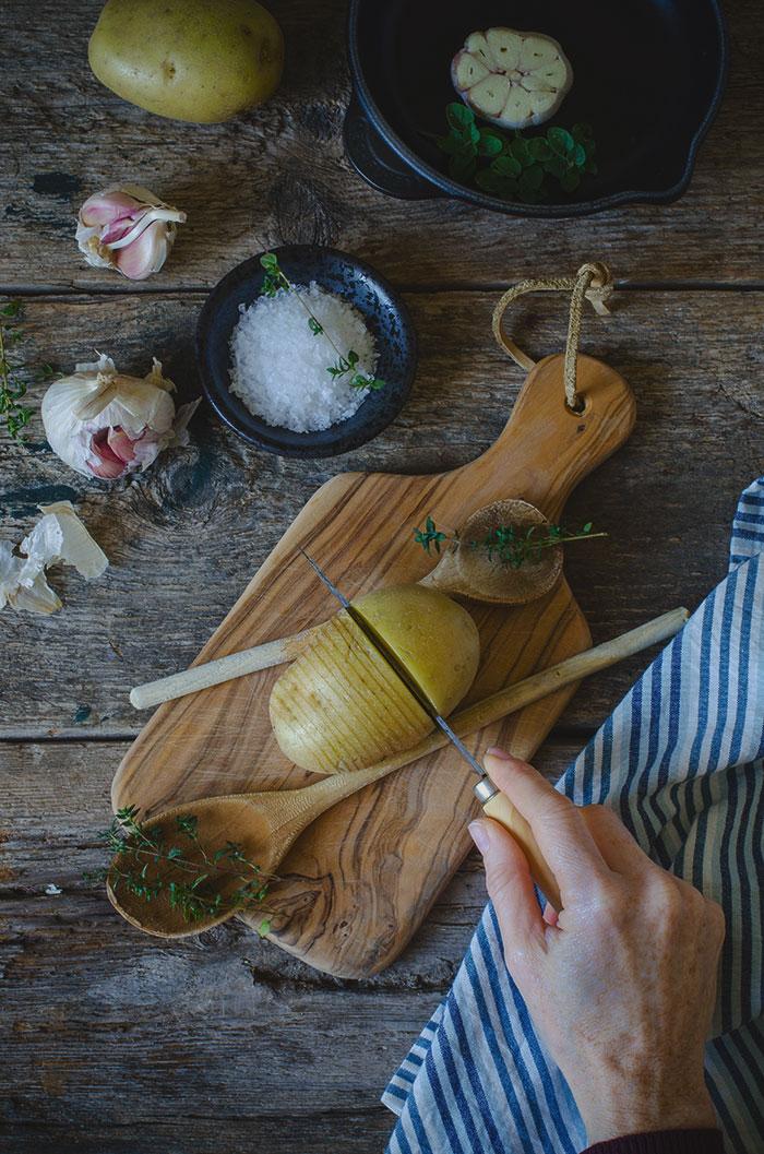 Corte-de-patatas-hasselback