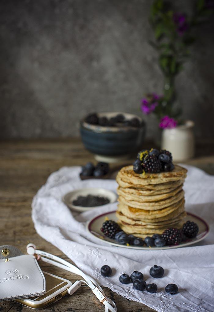 Pancakes de ricotta y limon