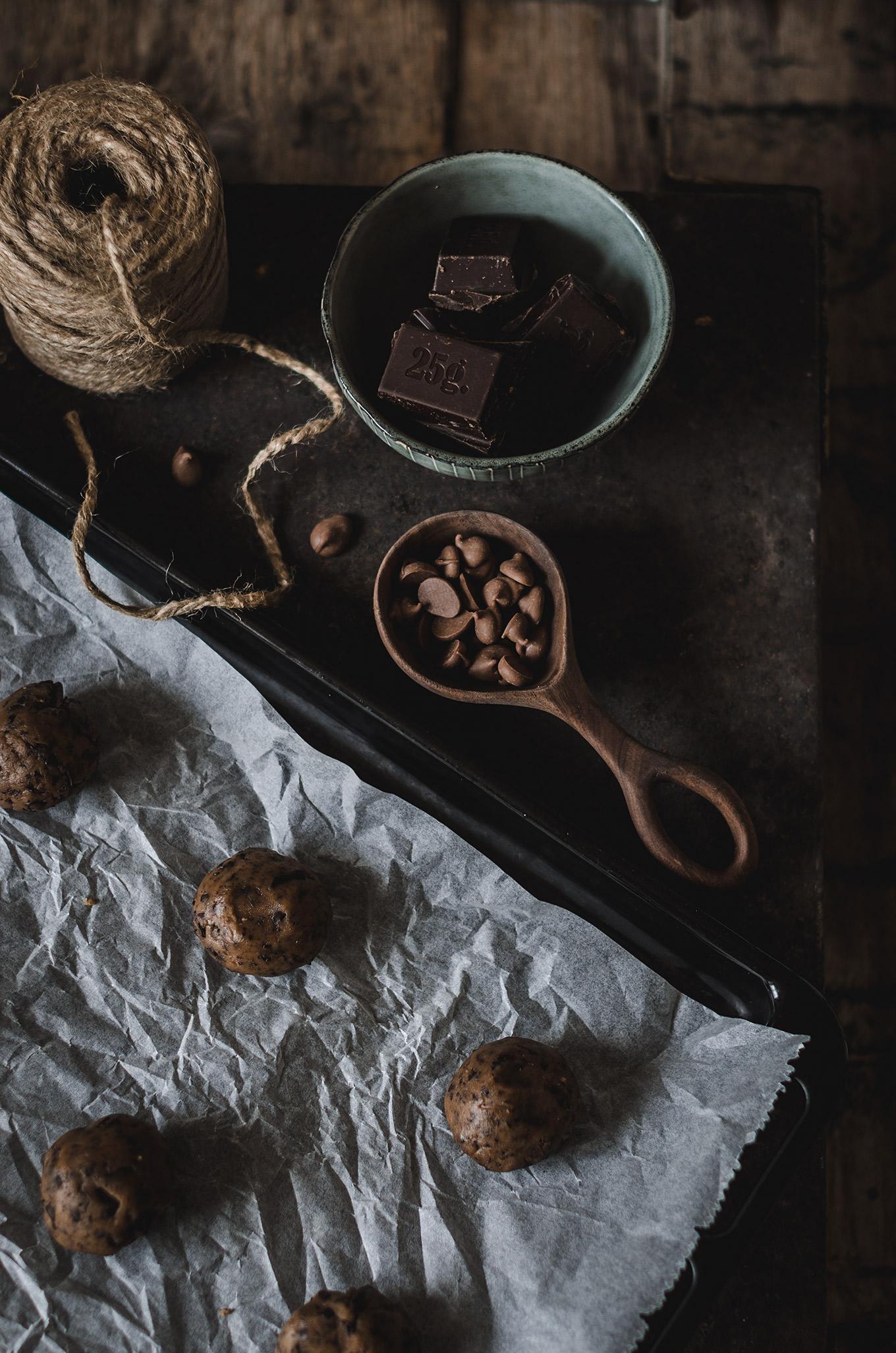 receta cookies chocholate paso a paso