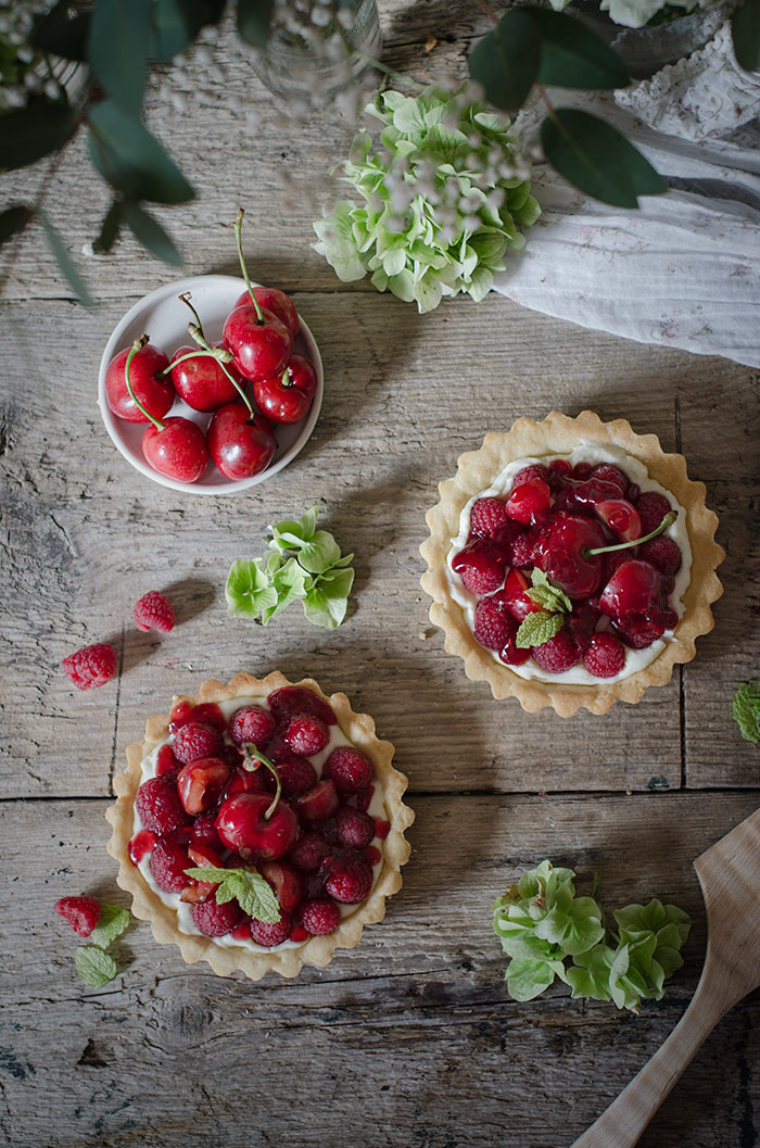 cherry-and-raspberry-tart