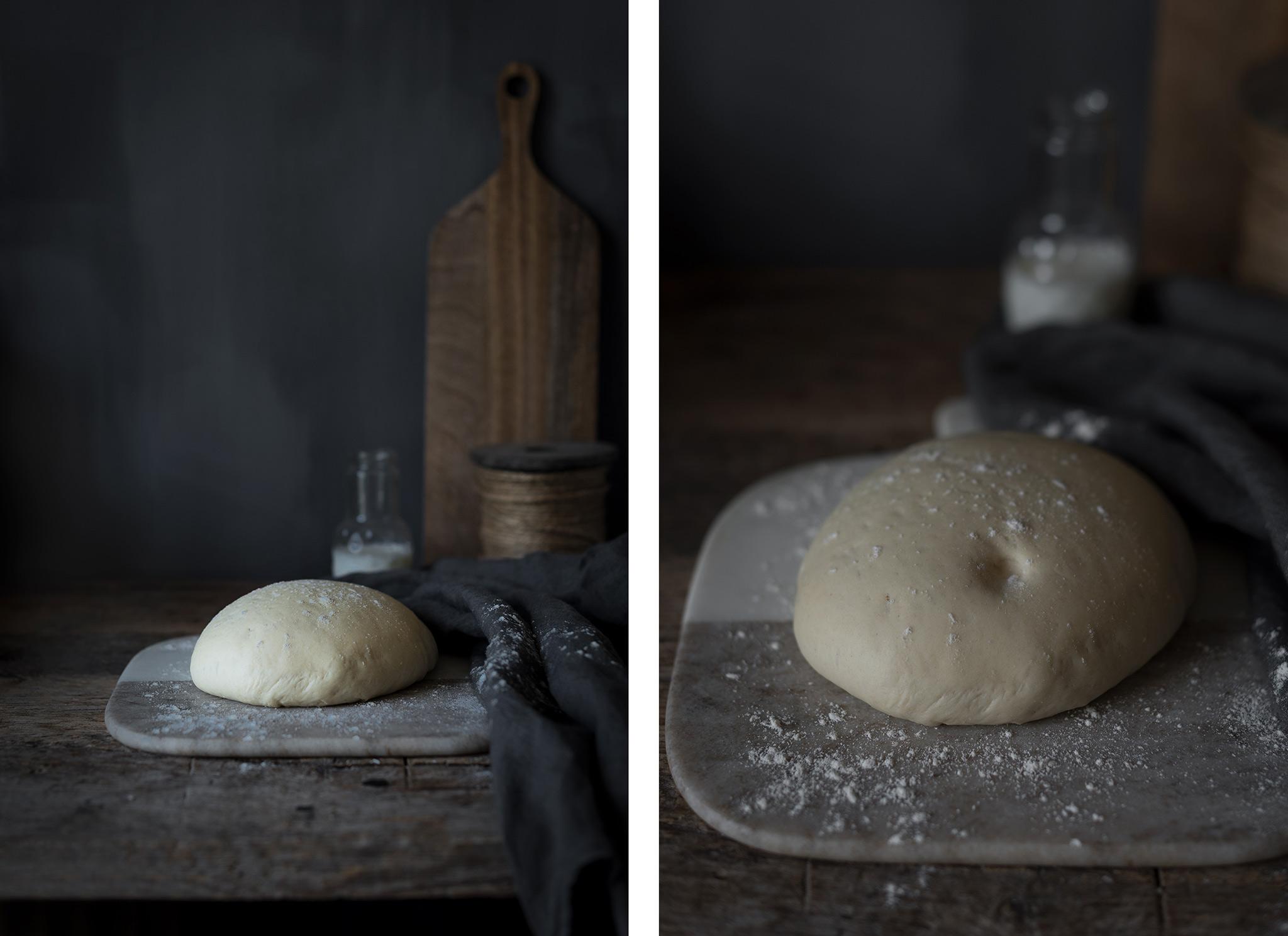 levado de masa para pan de molde-paso a paso