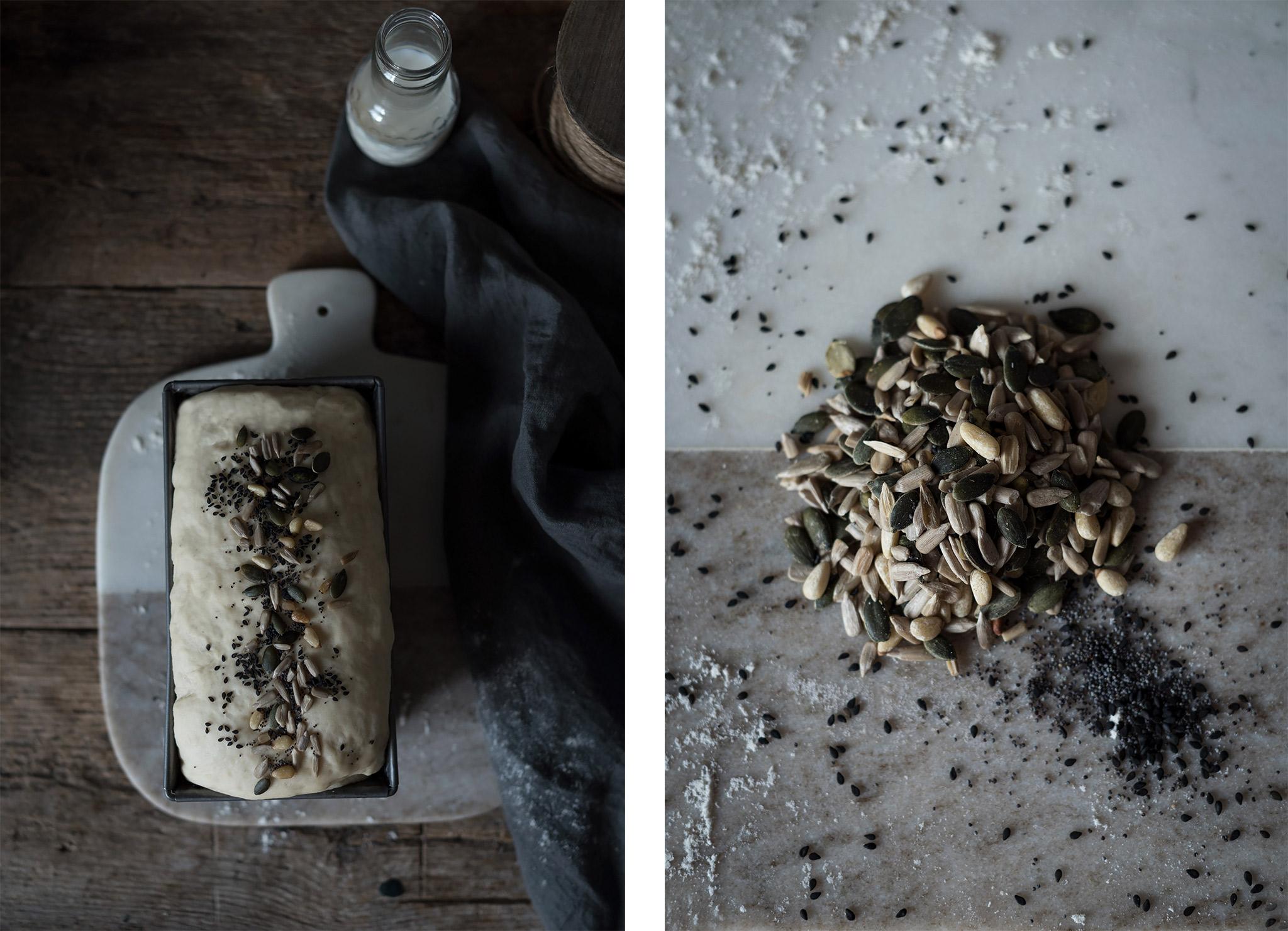semillas para aderezo pan de molde casero