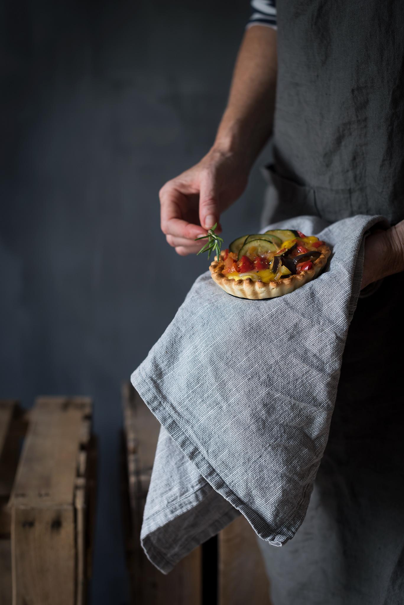 Tartaletas de pisto y huevo- receta fácil