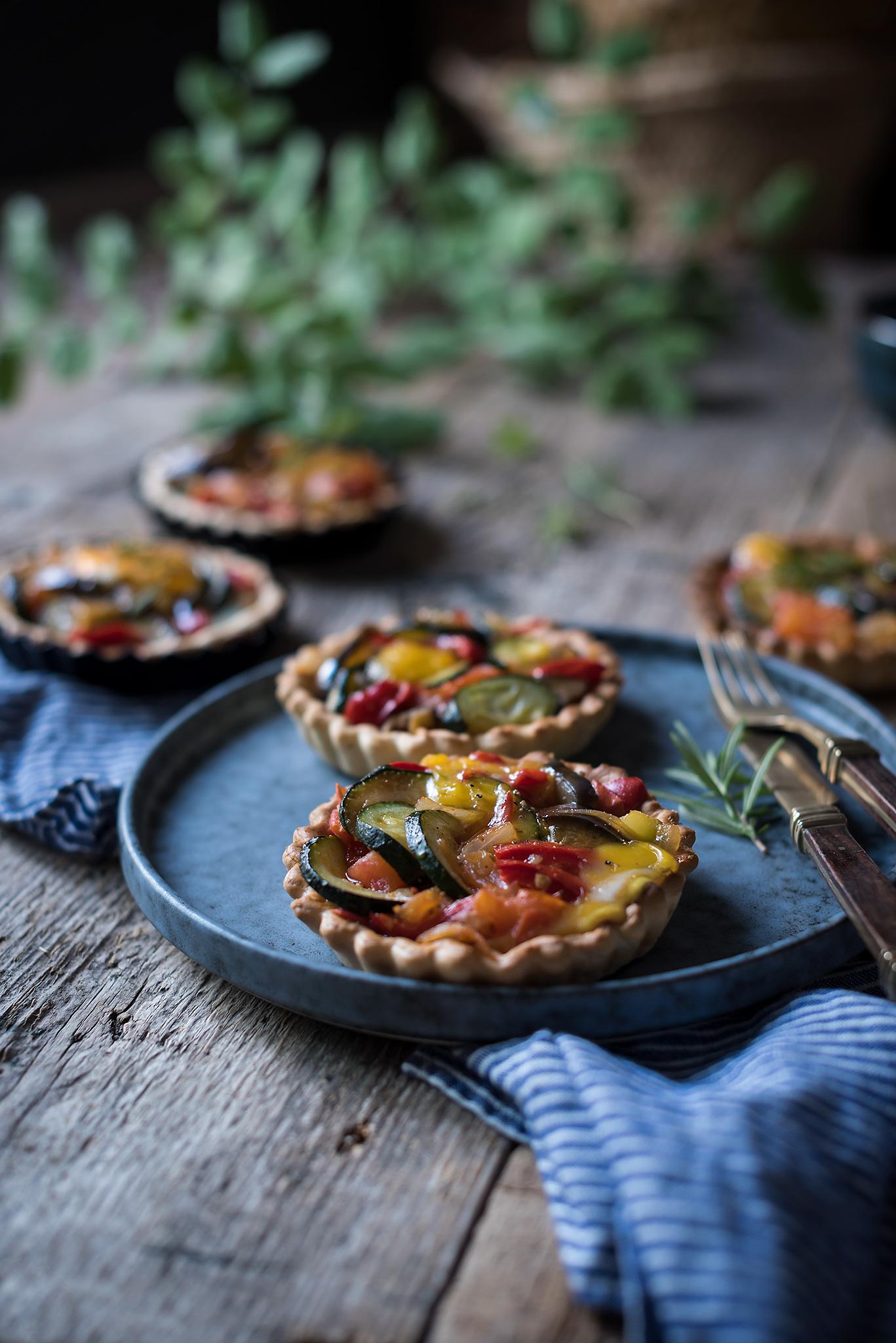 Tartas induviduales de verduras- paso a paso