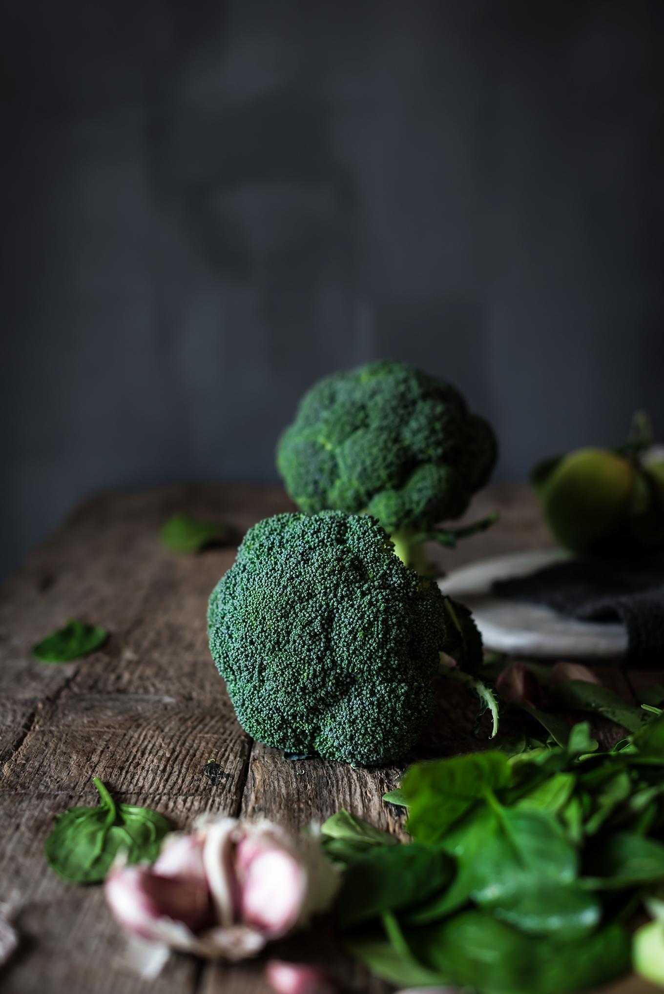 Brócoli y espinacas