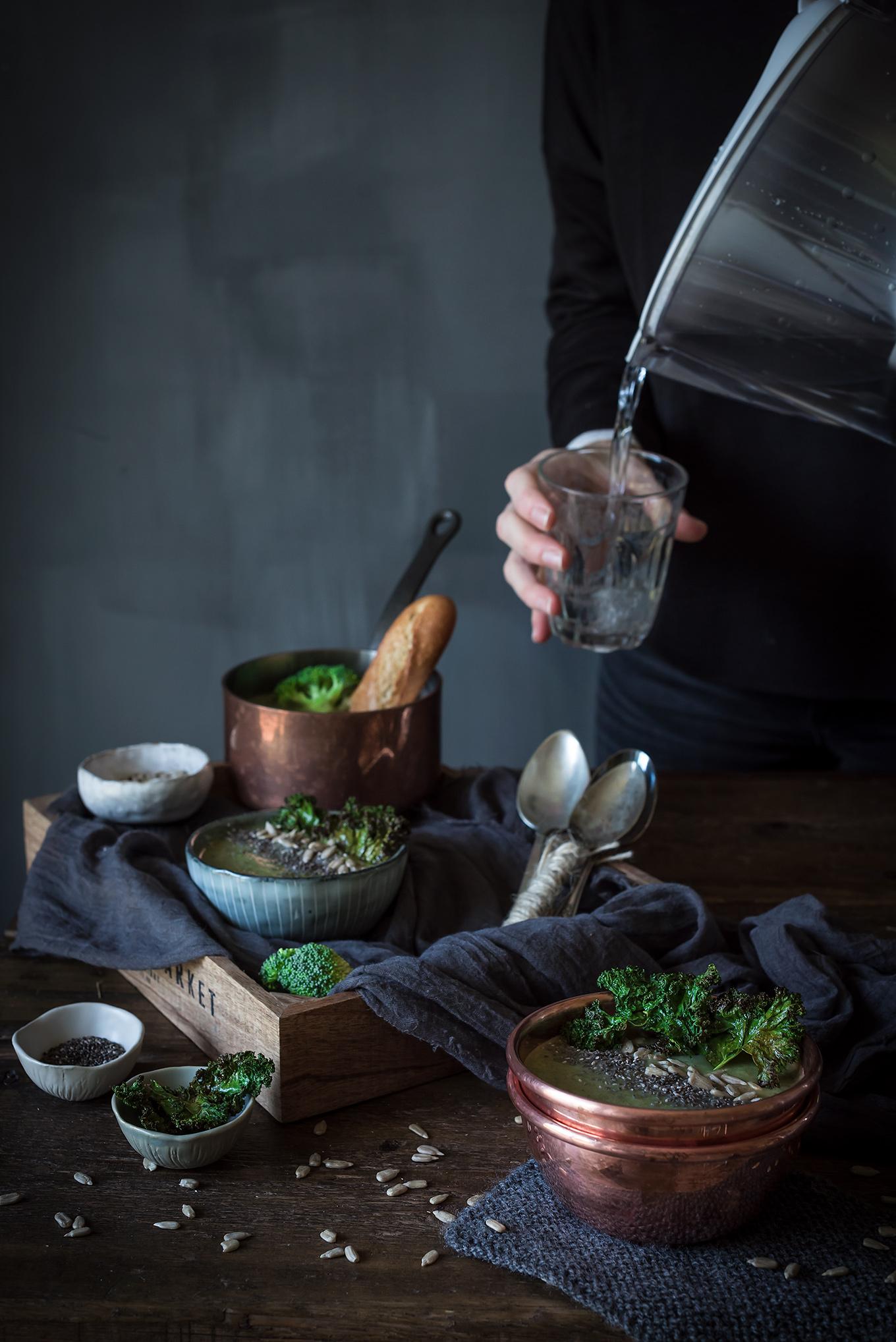Como hacer crema de brócoli y espinacas