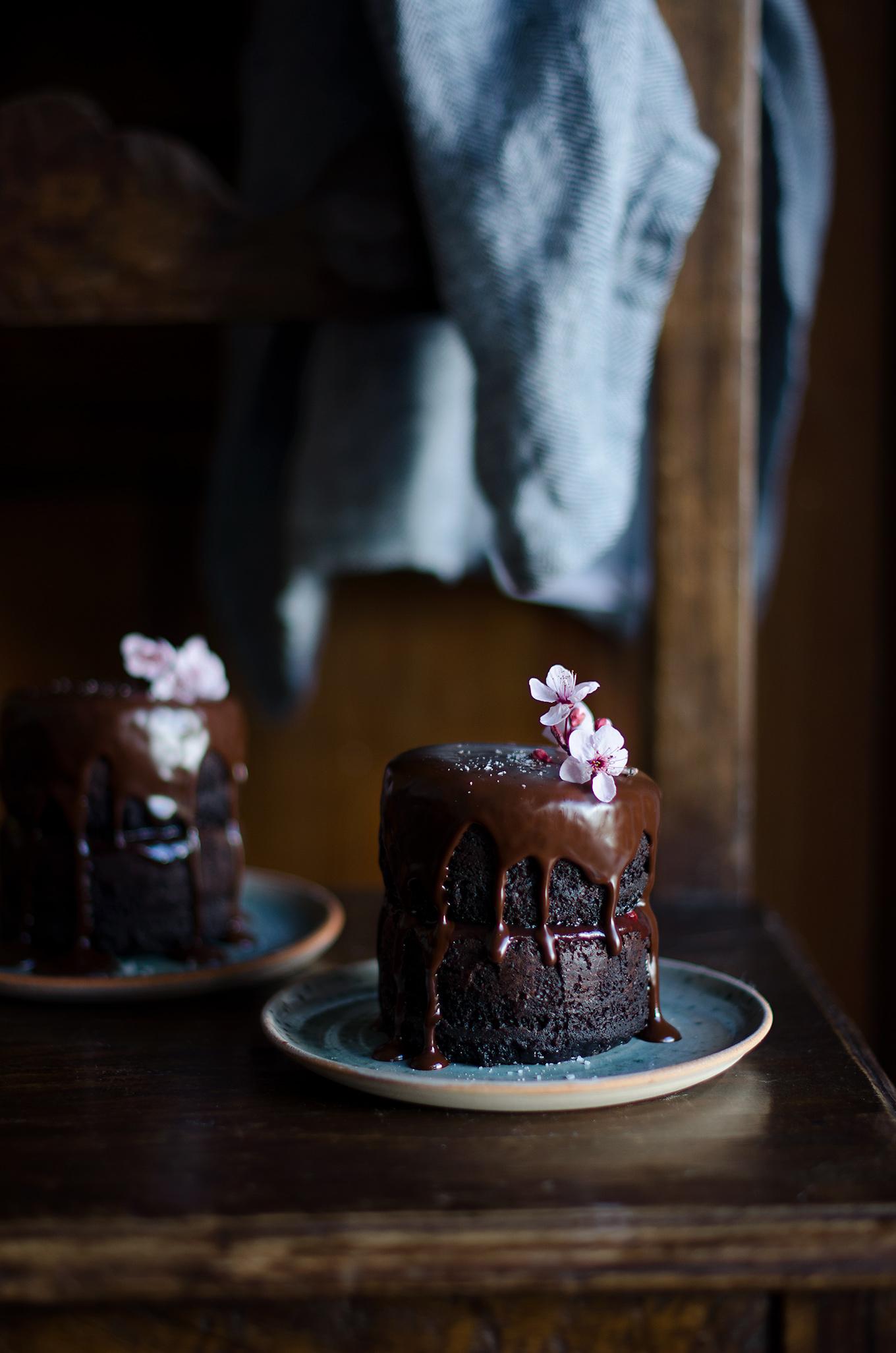 tarta de chocolate conglaseado