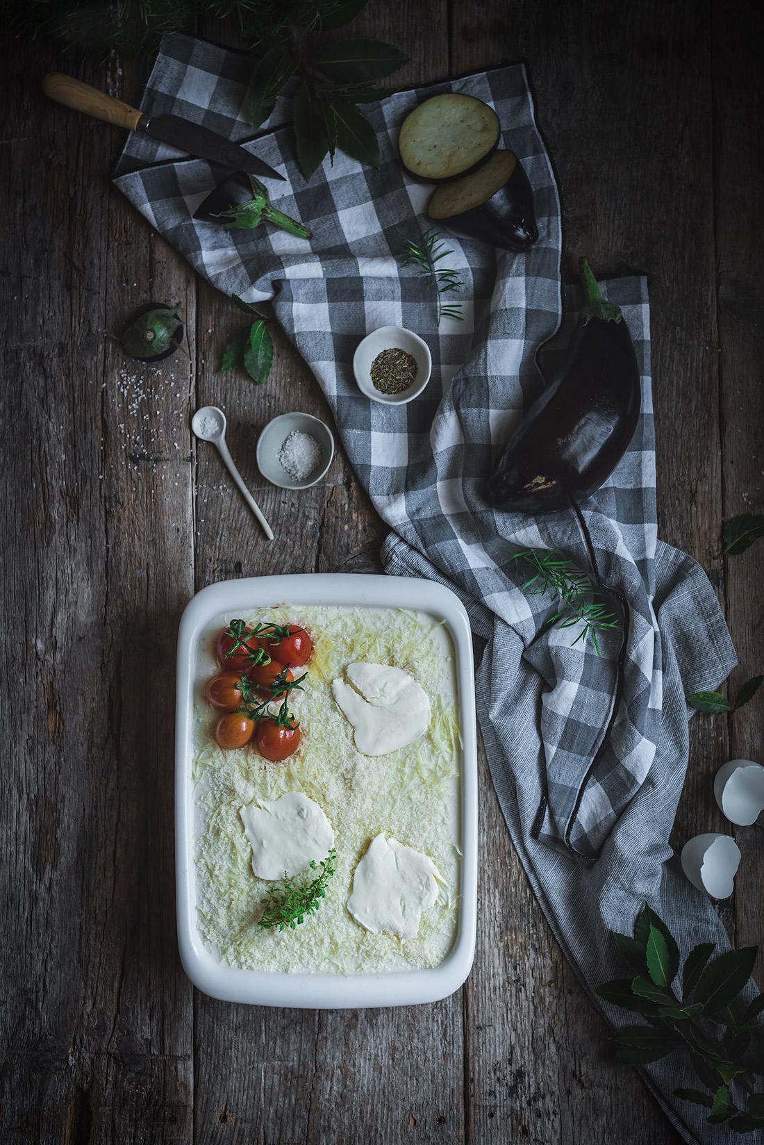 musaka con berenjenas y tomate