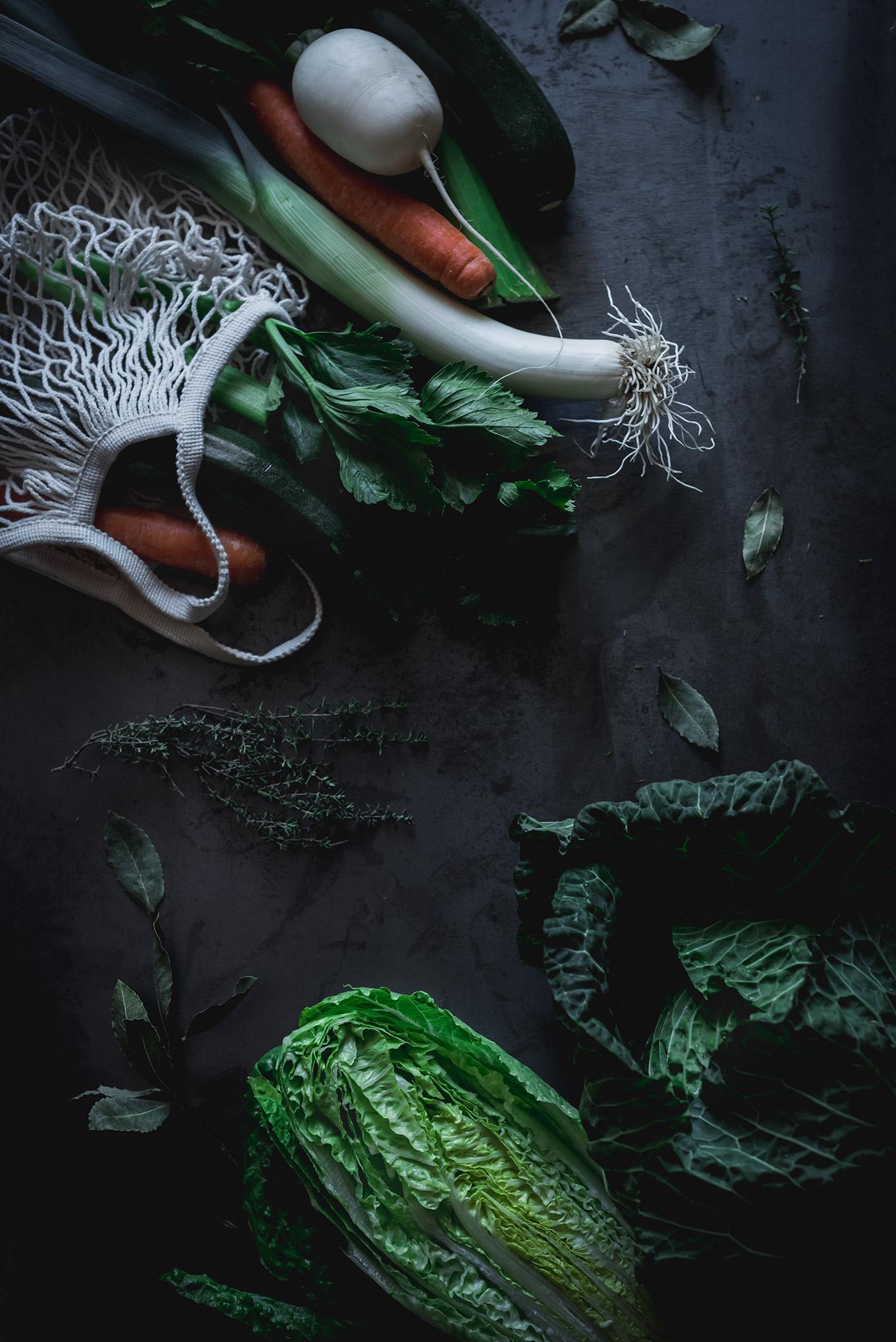 Verduras para caldo depurativo
