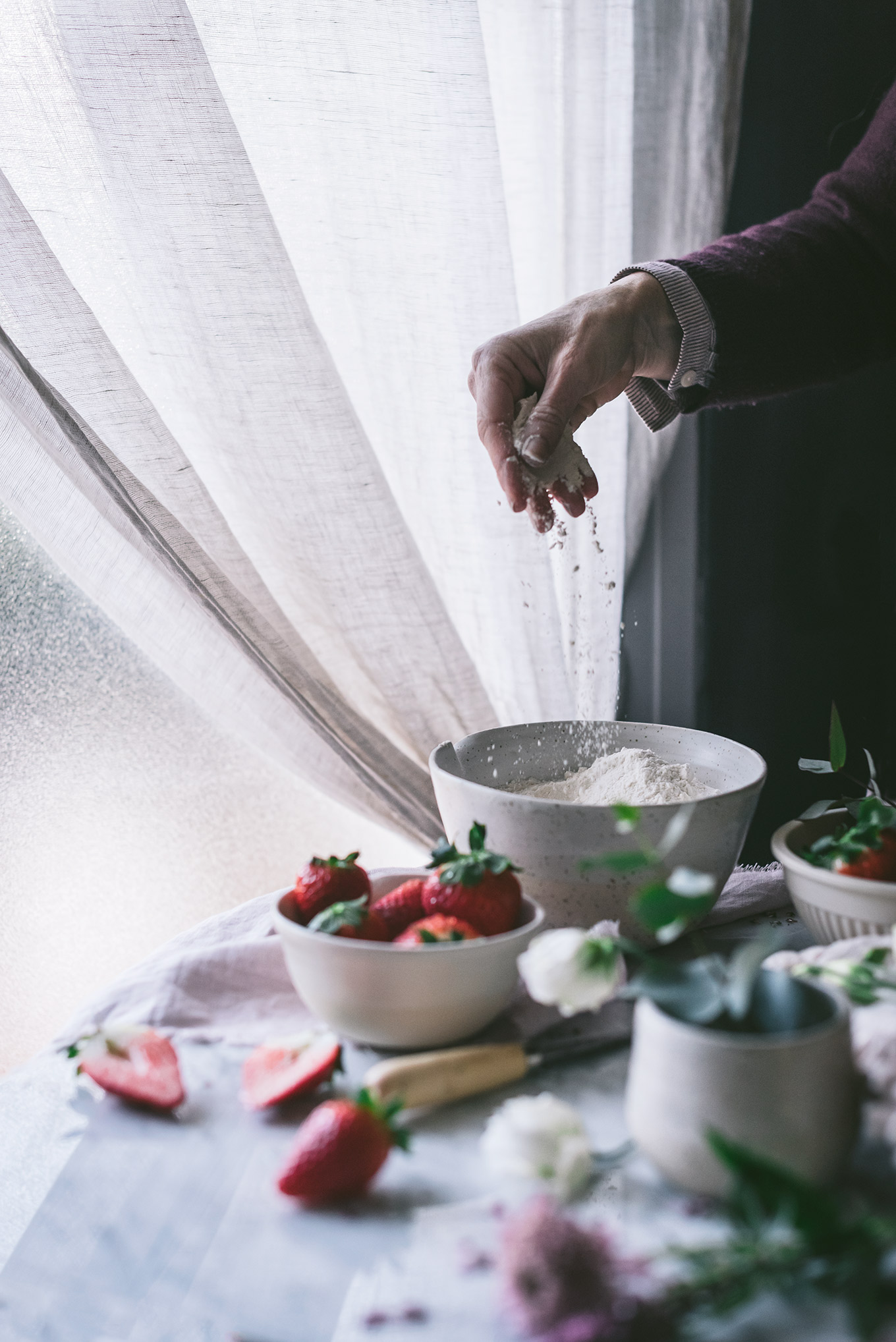 elaboración de la receta de scones ingleses