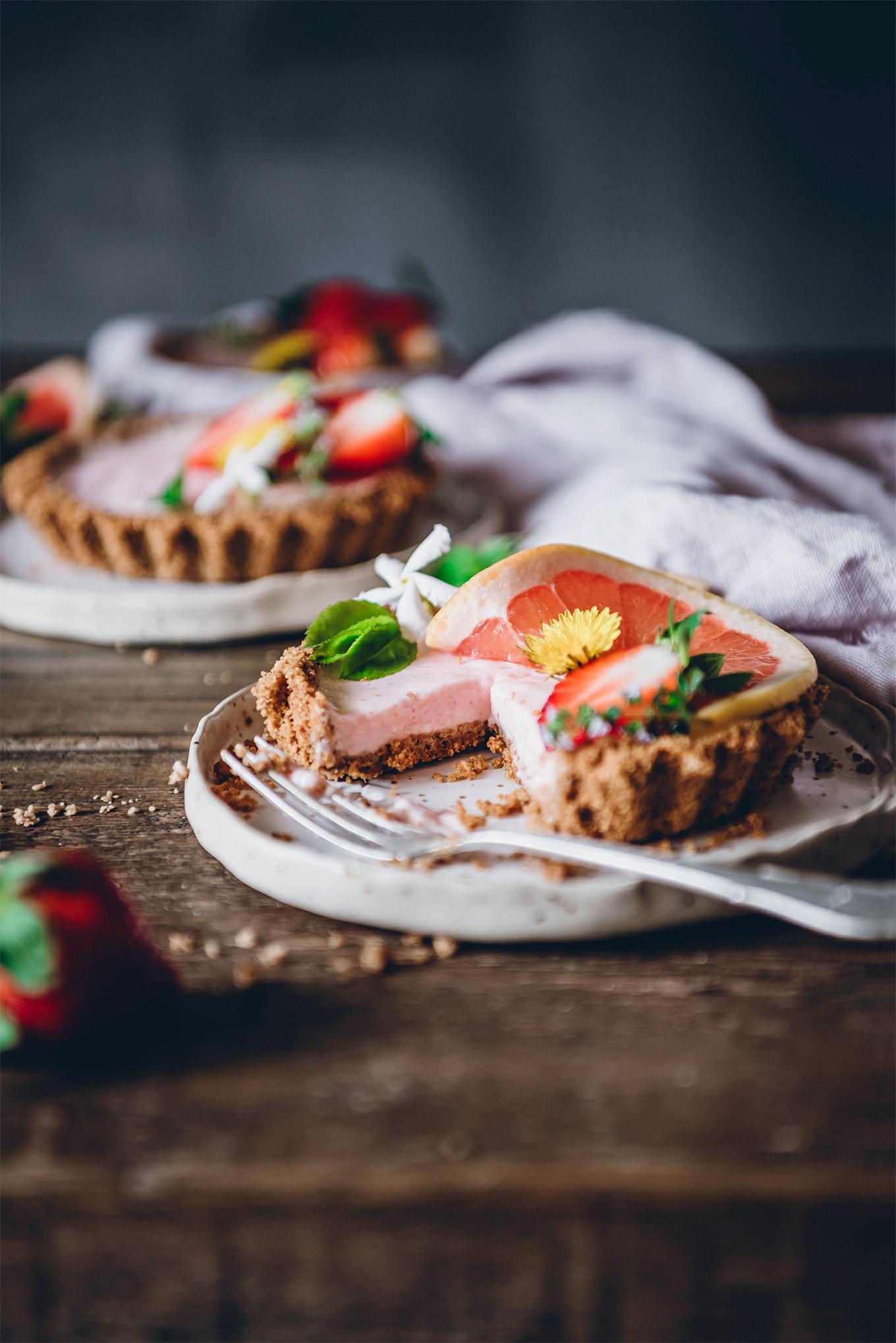 Tartaleta fría de fresas