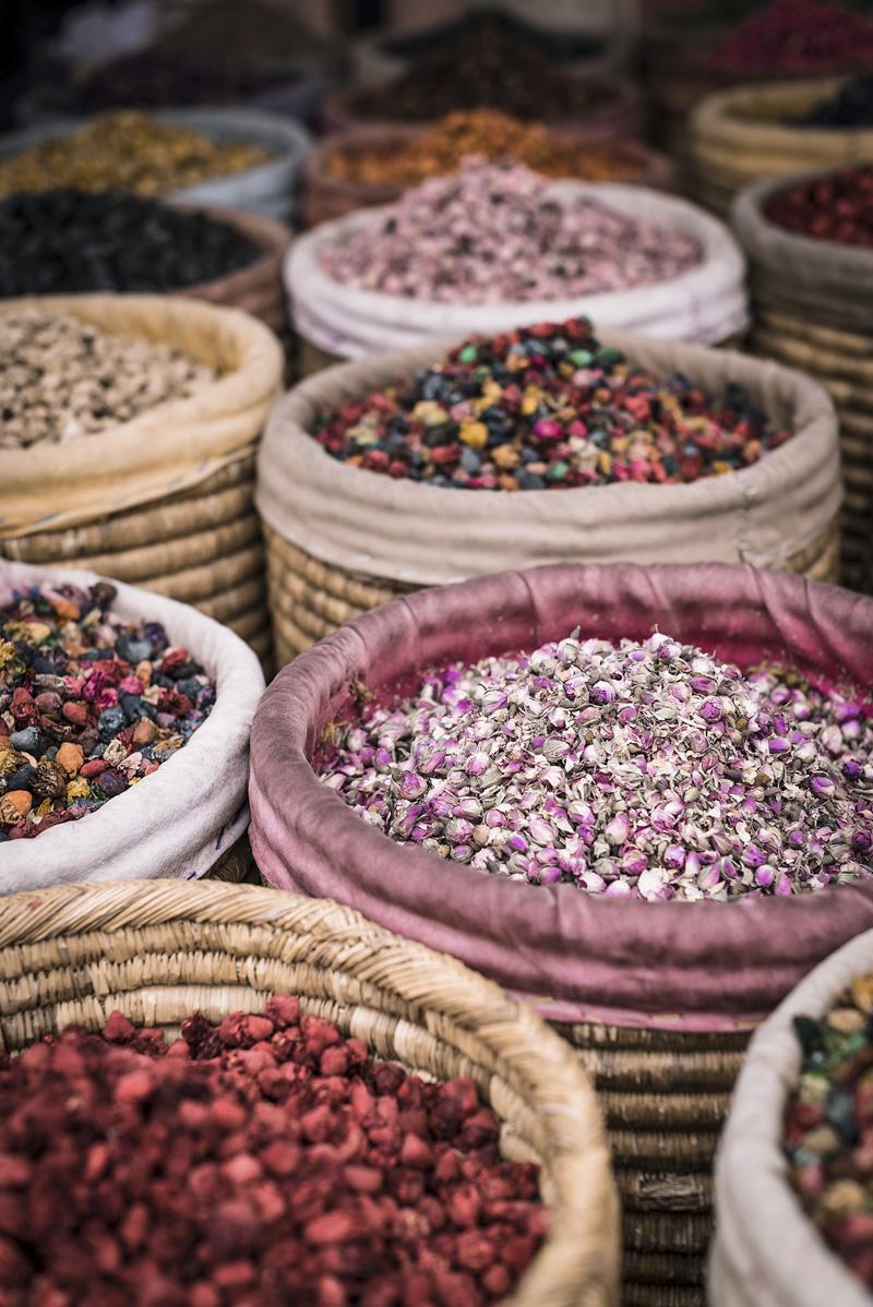 Puestos especias Marrakech