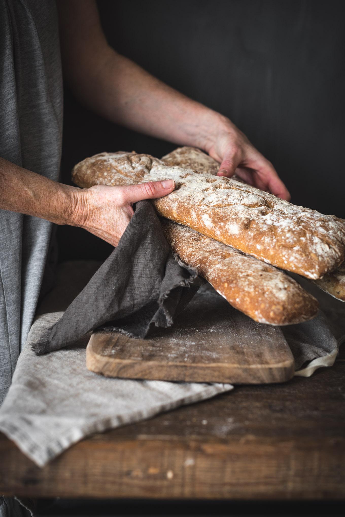 Receta paso a paso del pan de chapata